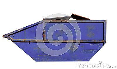 Rusty blue skip