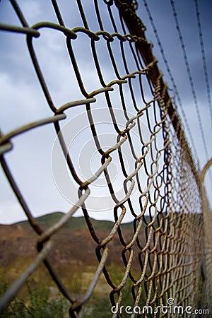 Rusty border fence