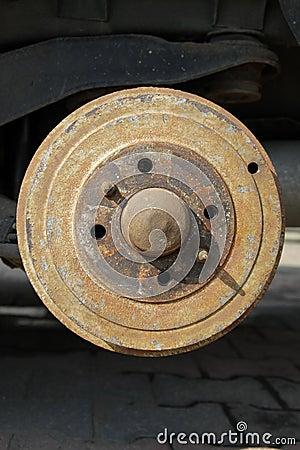 Rusty brake-drum
