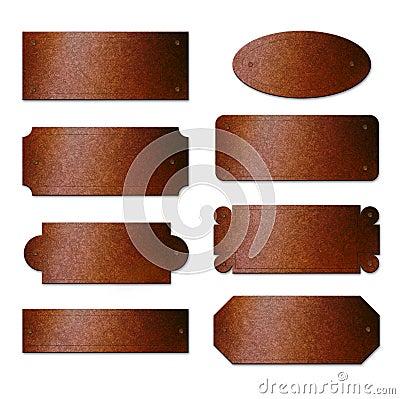 Rusty Brass Plates