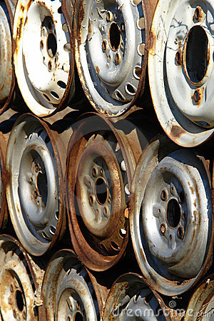 Rusty car rims