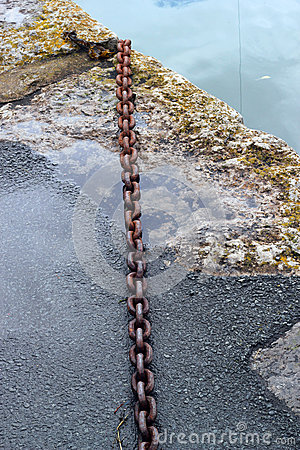 Free Rusty Chain On A Quay Side. Royalty Free Stock Image - 48089146