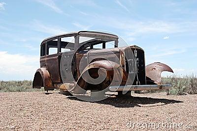 Rusty classic American car
