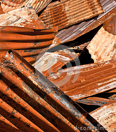 Rusty Corrugated Metal Heap