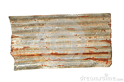 Rusty corrugated metal