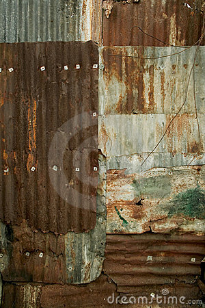 Free Rusty Corrugated Metal Wall Grunge Background Texture Royalty Free Stock Photos - 2127958
