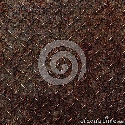 Rusty Diamond Plate