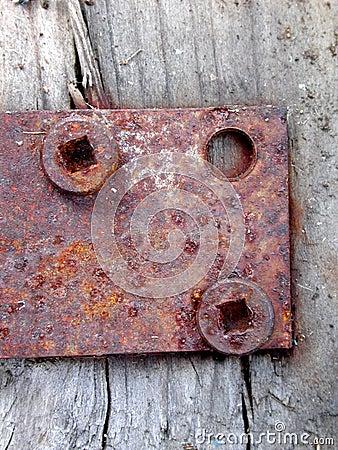 Rusty Door Hinge Screws Wood