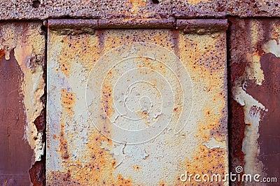 Rusty door with hinges
