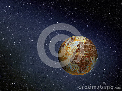Rusty Earth In Space Stock Illustration - Image: 49061693