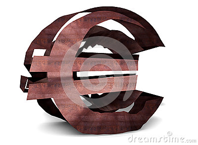 Rusty euro sign