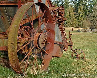 Rusty farm machinery