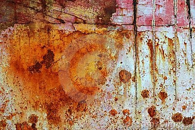 Rusty grunge aged steel iron