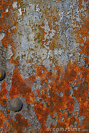 Rusty Grunge Texture of Steel Bridge
