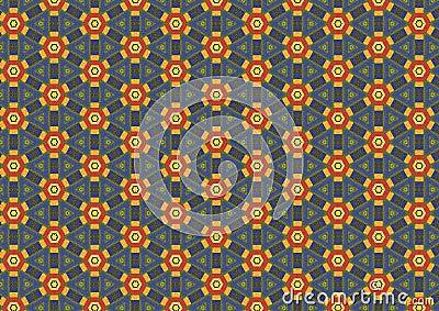 Rusty Hexagon Flower Pattern
