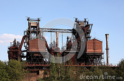 Rusty industrial ruin