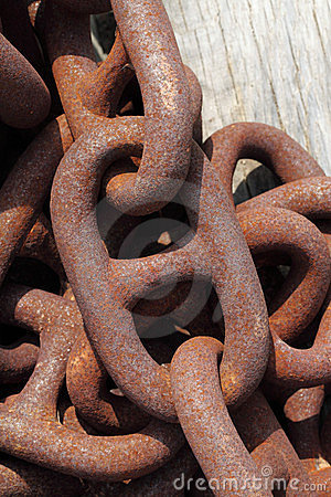 Rusty iron chain