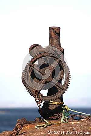 Free Rusty Iron Winch Stock Image - 3856191