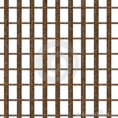 Rusty jail window
