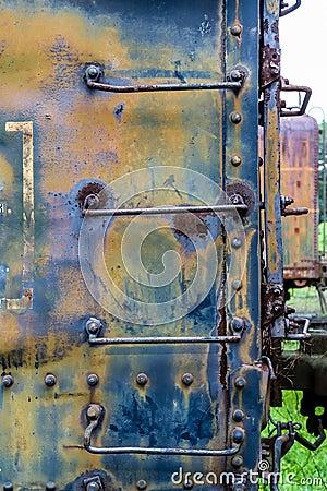Free Rusty Ladder On Blue Train Car Stock Photo - 61605960