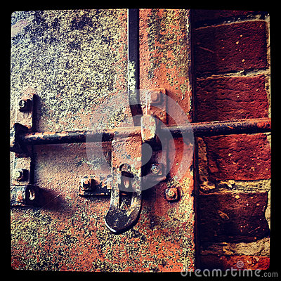 Free Rusty Lock Stock Image - 34707721