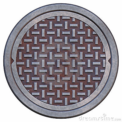 Free Rusty Manhole Cover Stock Images - 2510364