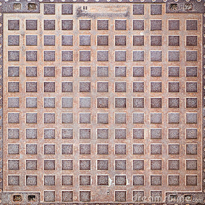 Rusty manhole cover texture