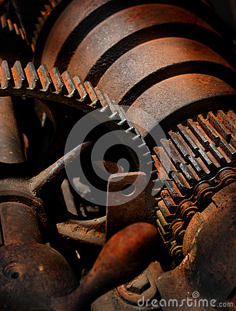Free Rusty Metal And Gears Royalty Free Stock Photography - 31485357