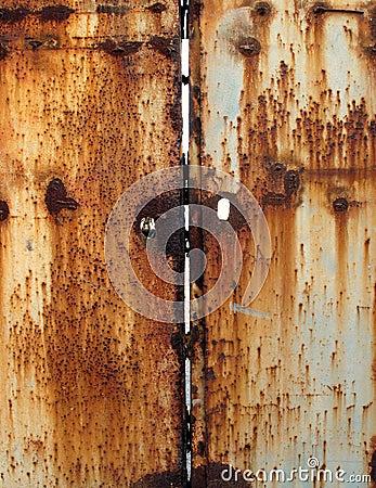 Free Rusty Metal Door Royalty Free Stock Image - 4266346