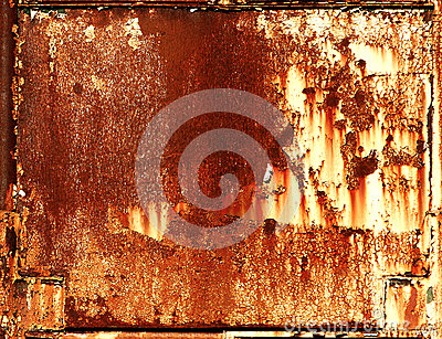 Rusty metal frame background