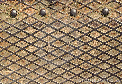 Rusty metal grid