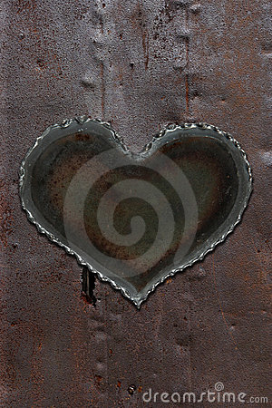 Rusty metal heart