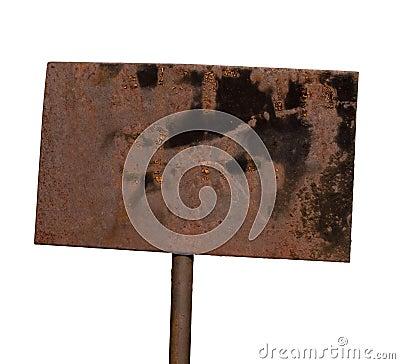 Free Rusty Metal Plate Stock Image - 13842301