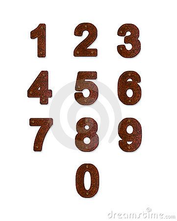 Free Rusty Metal Plate Numbers Royalty Free Stock Photography - 16983957