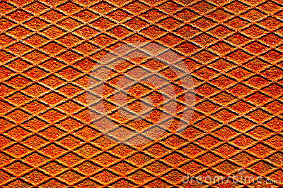 Rusty metal surface with reticulated texture and pattern