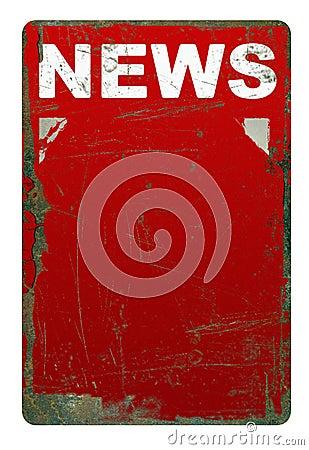 Rusty news sign