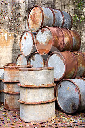 Rusty Oil Drums