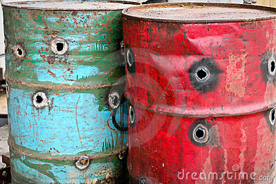 Rusty Oil Drums(Barrels)