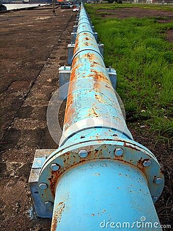 Rusty Old Blue Pipeline