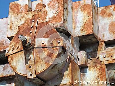 Rusty old boiler