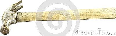 Rusty old claw hammer