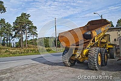 Rusty old dump truck