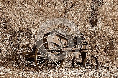 Rusty old farm machinery