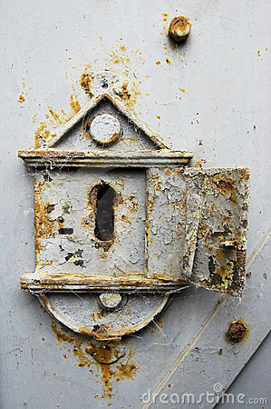 Rusty old keyhole