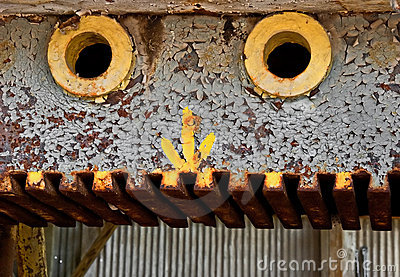Rusty old machinery