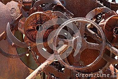 Rusty old machinery