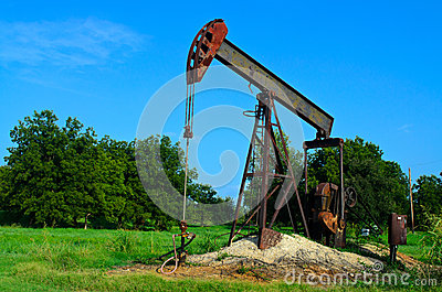 Rusty old oil well