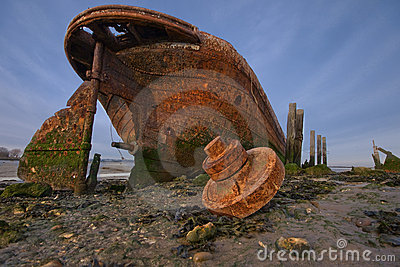 Rusty old ship