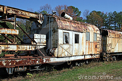 Rusty Old Train Cars