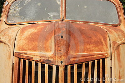 Rusty old truck